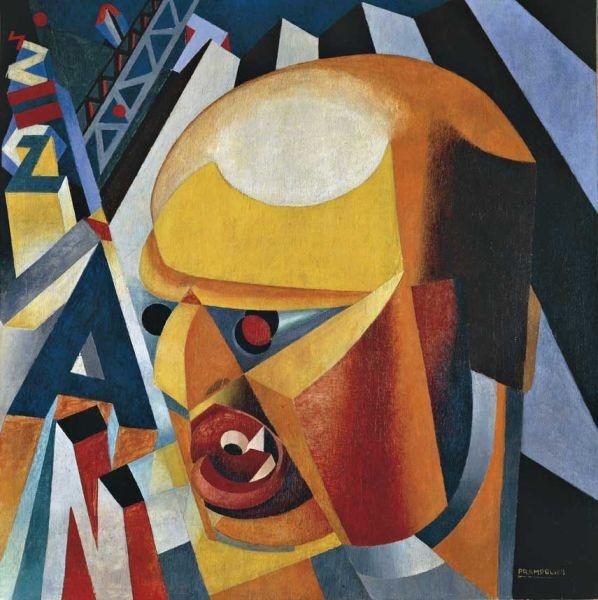 Ritratto di Filippo Tomasso Marinetti, di Enrico Prampolini