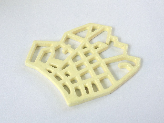 Pastel Yellow 3D Printed Ceramics