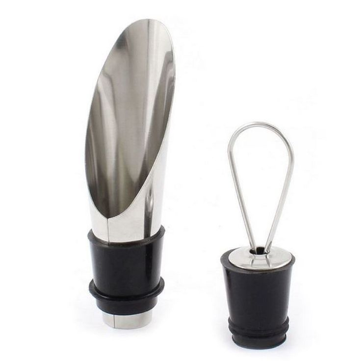 Wine Pourer Aerator and Stopper Aerating Wine Pourer Champagne Stainless Steel  #ElegantKnights