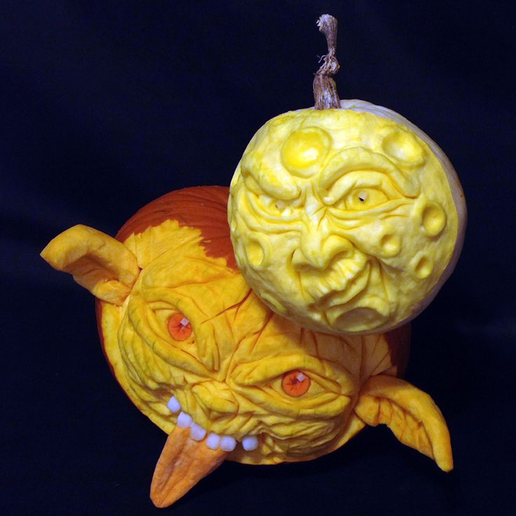 Moonstruck is a 3D Pumpkin Carving by Theressa Wright