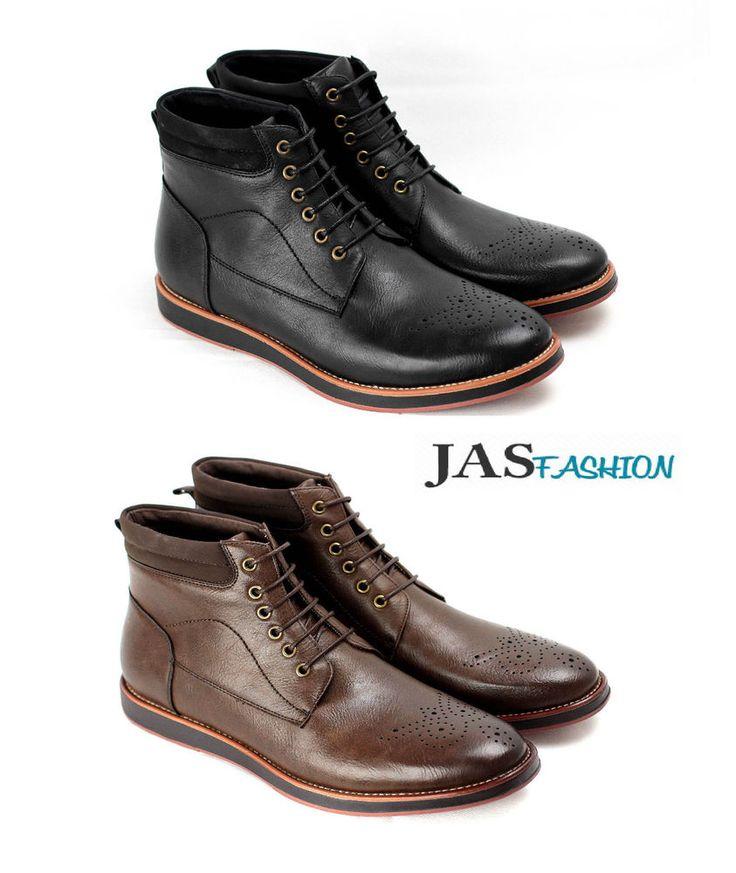 Mens Ankle Boots Casual Fashion Chelsea Designer Smart Shoes UK 6 7 8 9 10 11