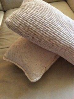 Knitted pillows Cs&J