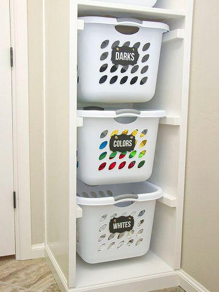 Las 25 mejores ideas sobre organizaci n del cesto de ropa - Cestos para la colada ...