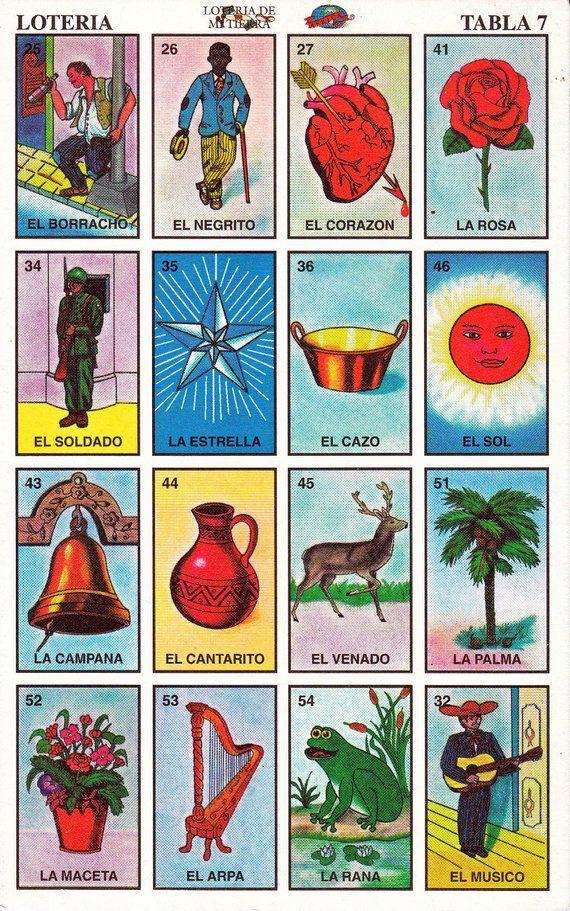 Loteria Mexicana Para Imprimir Cartas