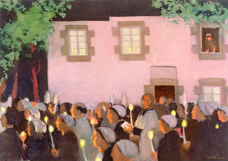 Evening Procession at Folgoet, 1926 - Maurice Denis