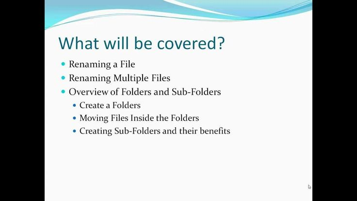 Working With Files and Folders - Microsoft Windows 7
