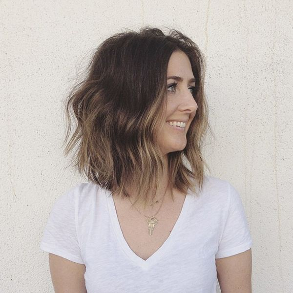 Summer hair long bob color idea- low maintenance if I let natural brown grow back out.