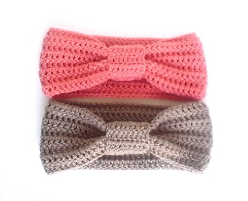 Turban Headband - Two - Your Choice of Colors - Crochet Headband. {hand made!!!}
