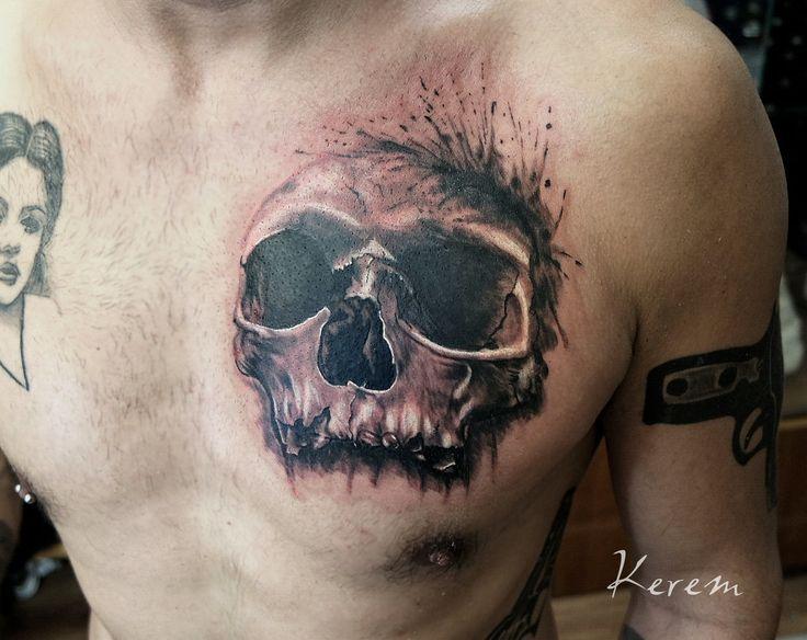 Skull  tattoo by Kerem Güner (www.dovmedukkani.com)