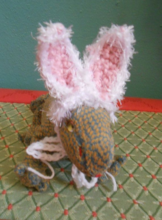 tiny pet bunny ears hat for bearded dragons lizards or rats easter bunny ears for tiny pets rabbit ears for beardies halloween costume