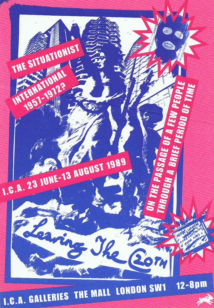Jamie Reid • SI Exhibition Flyer 1989