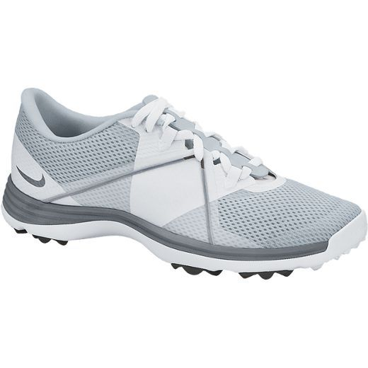 Pure Platinum/Cool Grey/White Nike Ladies Lunar SummerLite2 Golf Shoes available at Lori's Golf Shoppe