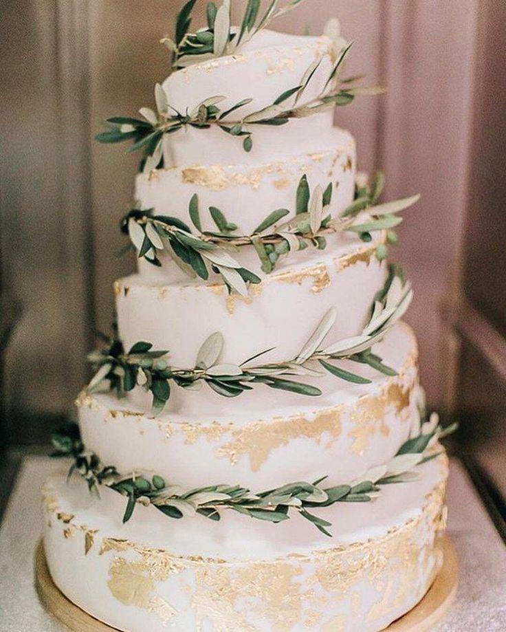 Blush ivory and sage green weding cakes weddings