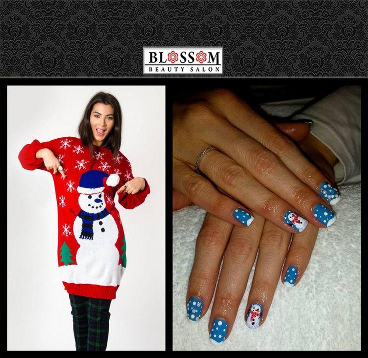 Winter tales on your nails!  De sărbători poartă un model de manichiură tematic! Este una dintre puținele ocazii în care modelele de unghii pot fi și jucăușe, iar ștrasurile și perluțele pot crea efecte deosebite în combinație cu pictura unghiei.