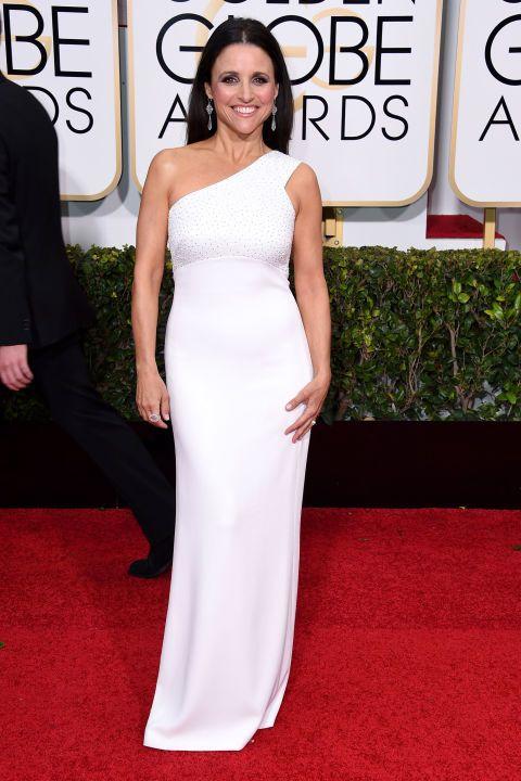 Julia Louis-Dreyfus's dress is so classy.