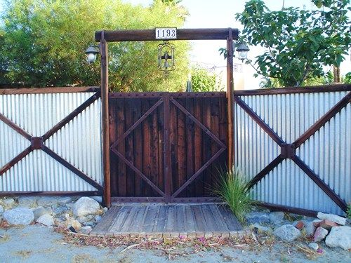 privacy fencing ideas for 8 ft fence | contemporary fence designs utilize old style corrugated galvanized ...