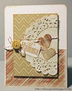 {Re}kreasjoner: Morsdagskort // mothers day card