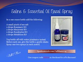 Patti's Place: Saline & Essential Oil Nasal Spray