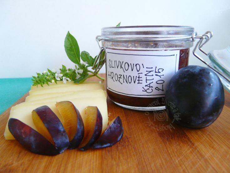 Fotorecept: Slivkovo hroznové čatní
