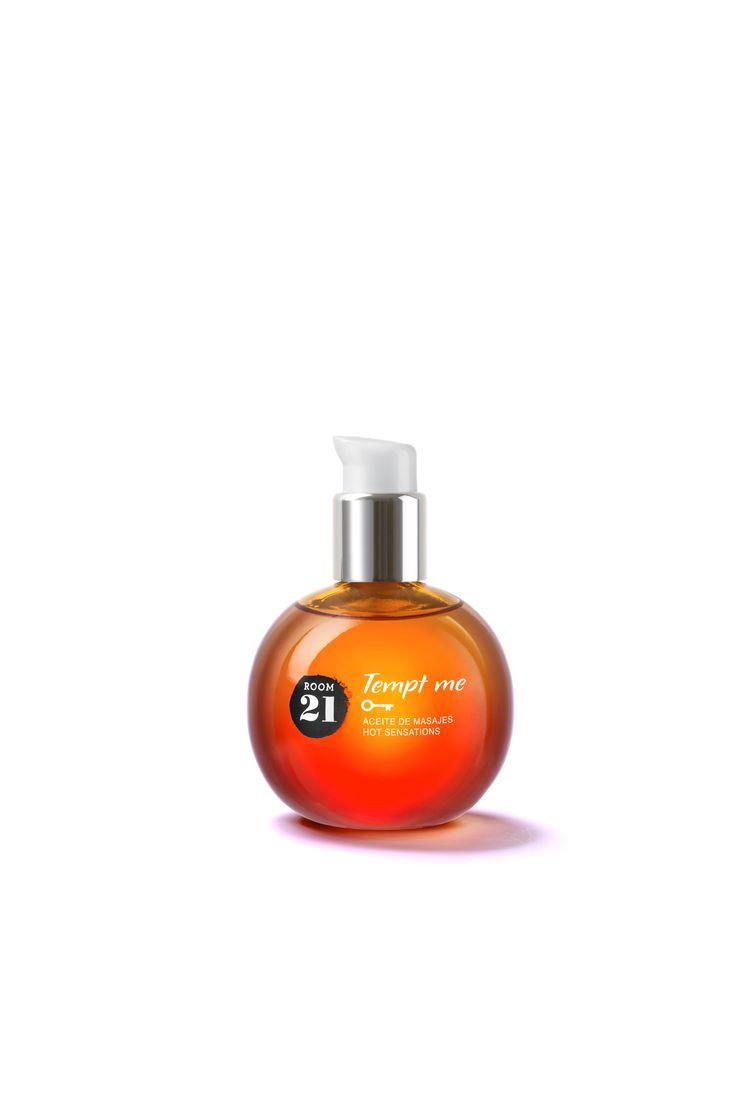 Tempt Me - Aceite para masajes que libera una sensación de calor intensa al soplarlo. 50 ml www.room21.tv