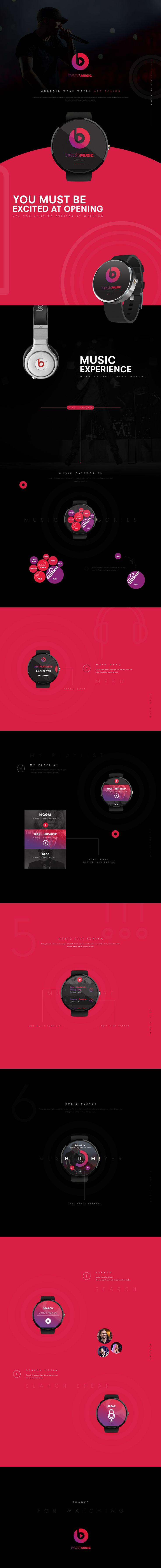 Beats Music Watch App Concept Design on Behance
