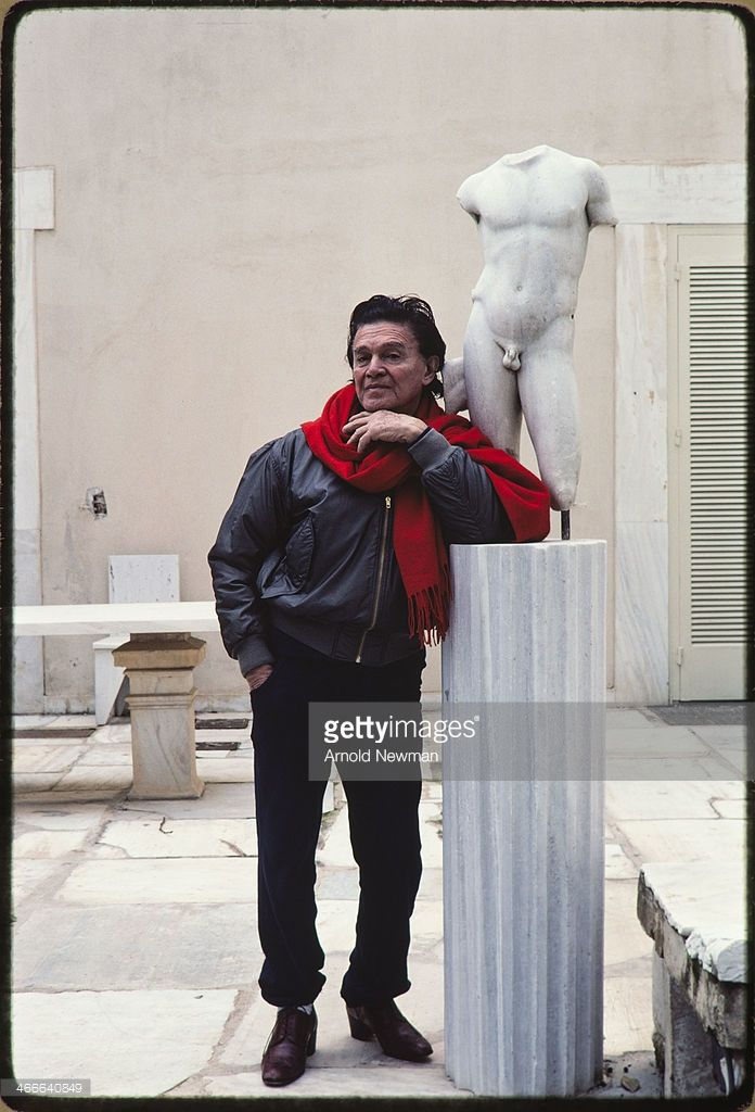 Portrait of Egyptian-born Greek art collector and gallery owner Alexander Iolas (1907 - 1987) as he poses in his home, Athens, Greece, January 8, 1983.