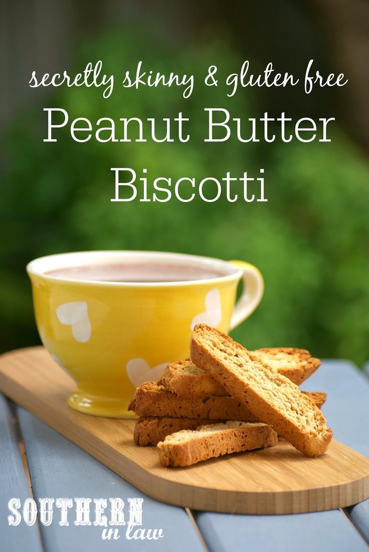 You would never guess this crunchy, addictive Peanut Butter Biscotti Recipe was healthier or gluten free! This Secretly Skinny Peanut Butter Biscotti Recipe is so easy to make as well as low fat, low sugar, gluten free and lightened up!