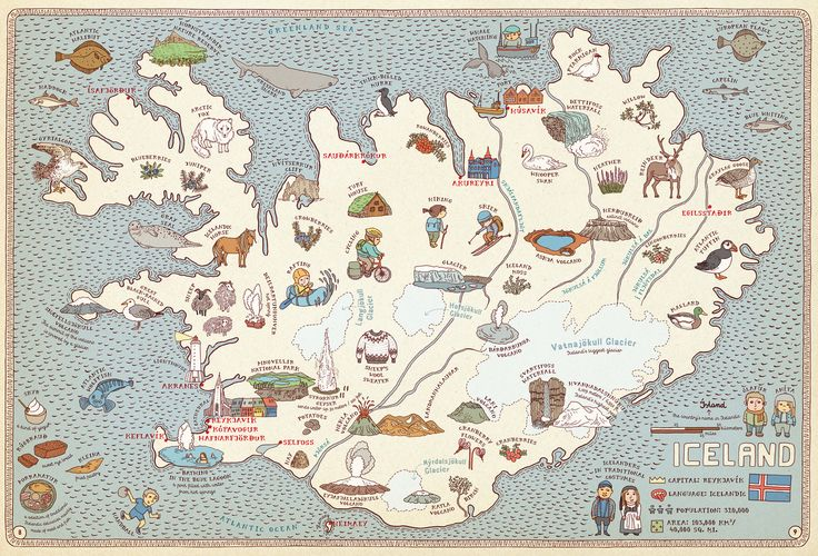 Iceland, from Maps by Aleksandra Mizielinska