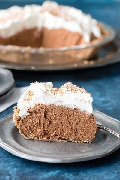 Irish Chocolate Silk Pie with Oatmeal Cookie Crust