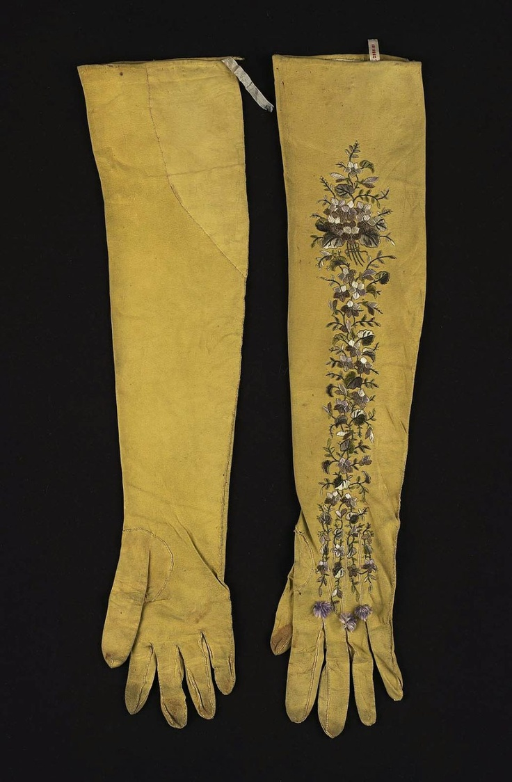 Ladies leather gloves yellow - Women S Gloves Kid Embroidered With Silk Early 19th Century Probably French Women S Glovesleather Glovesladies