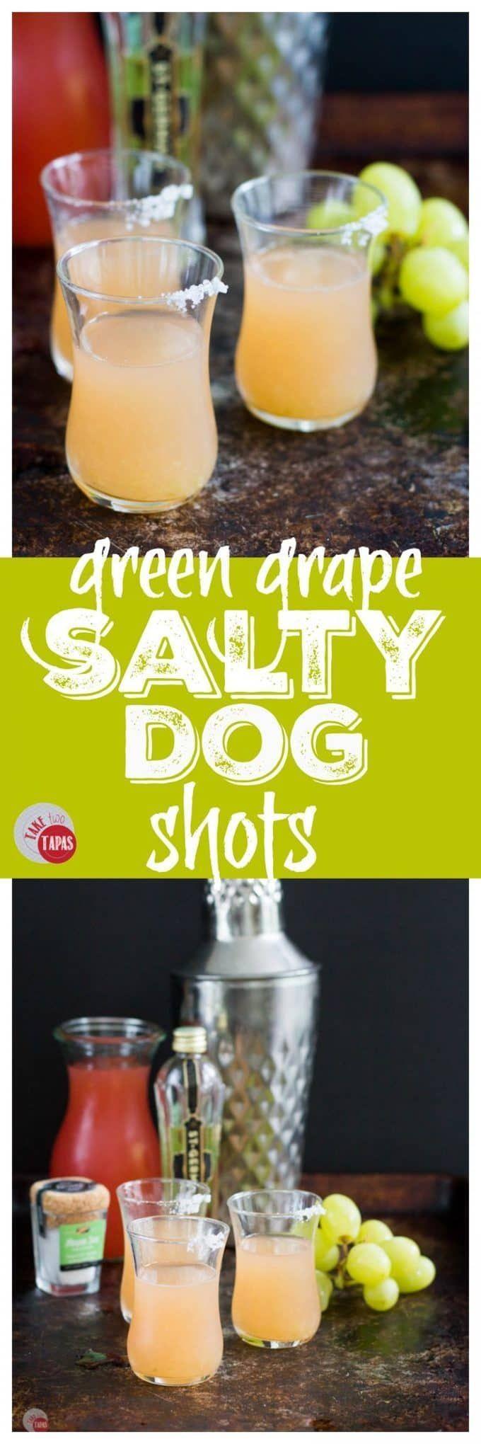 Green Grape Salty Dog Shots | Take Two Tapas