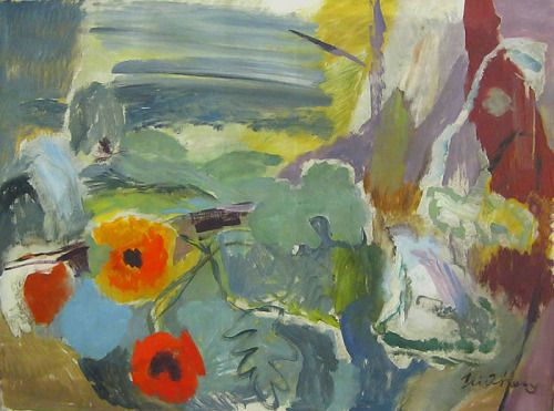 Ivon Hitchens Poppies, Open Window on the Downs