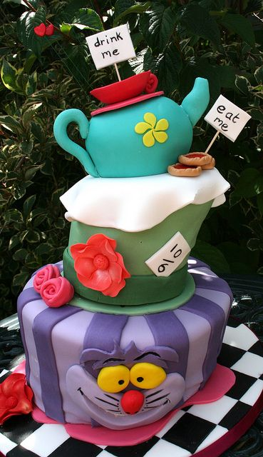 mad hatter tea party cakes | Mad Hatter's Tea Party Wonky Cake