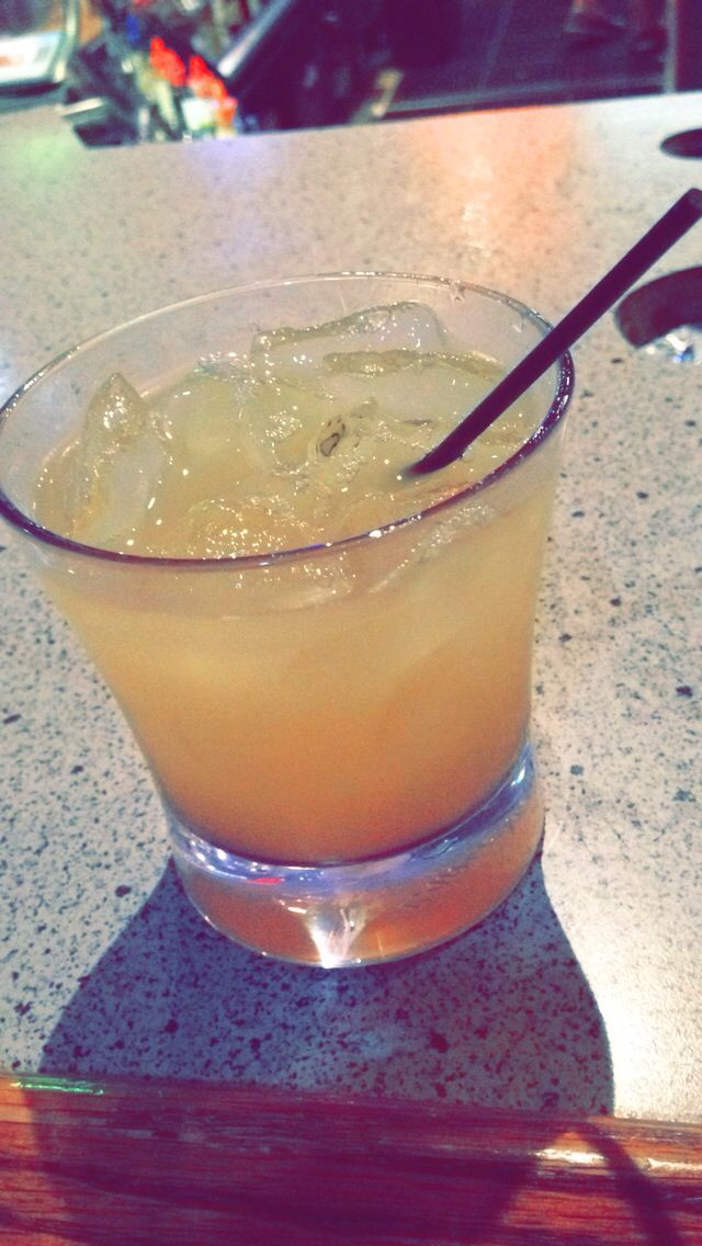WATER MOCCASIN  This is by far my favorite drink, if you're a fruity drink kind of gal, or you're throwing a girls night, I highly recommend the water moccasin!   1 oz. peach snapps  1 oz. Crown Royal Canadian Whiskey. 1 dash of triple sec  1 oz. sweet n sour mix