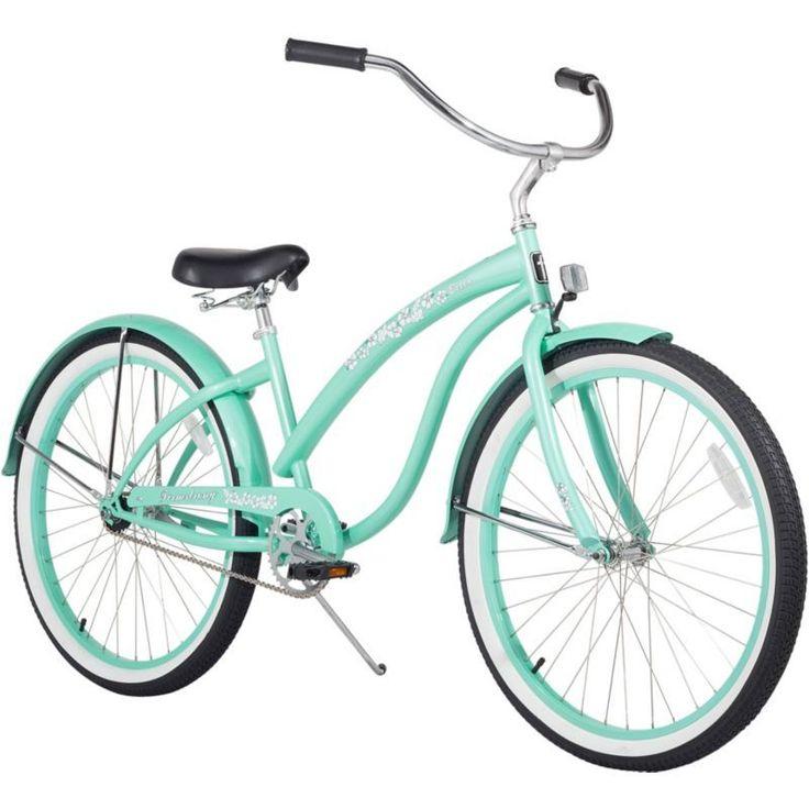 Firmstrong Women's 26'' Bella Classic Single Speed Beach Cruiser Bike, Green