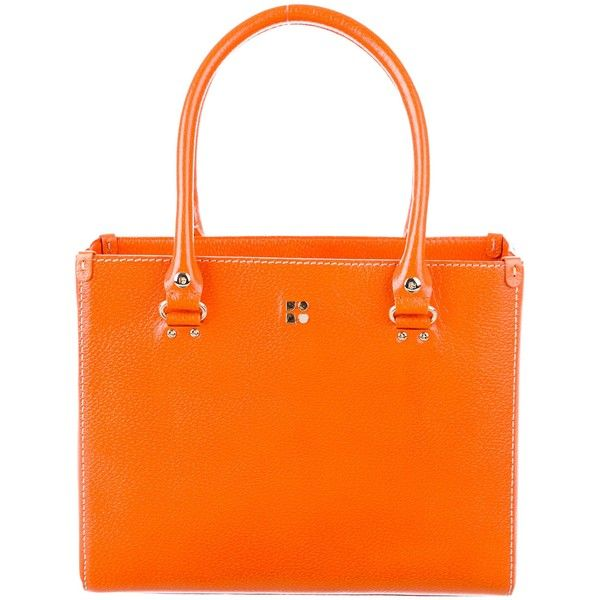 Pre-owned Kate Spade New York Tarrytown Seasonal Quinn Tote (€120) ❤ liked on Polyvore featuring bags, handbags, tote bags, orange, tote purses, kate spade purses, orange tote, orange tote bag and zipper tote