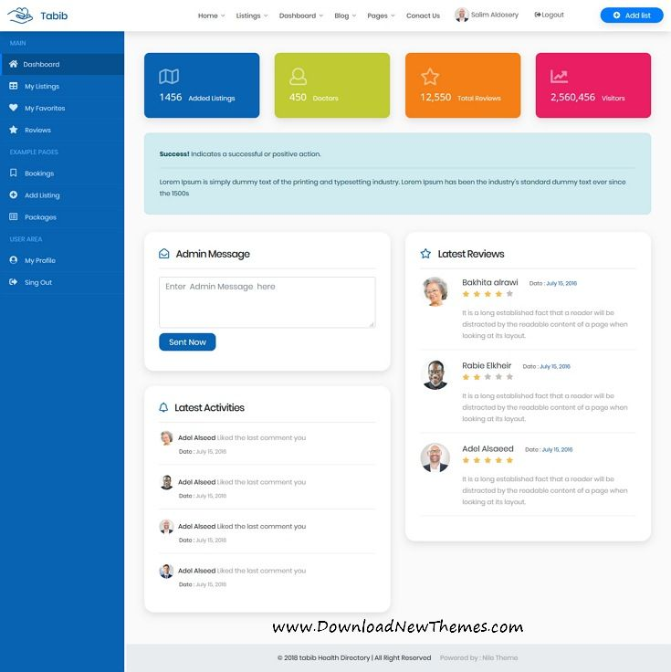 Tabib is a clean and modern design 4in1 responsive Bootstrap HTML5