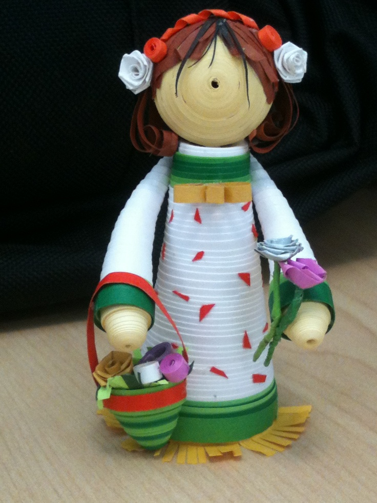 Paper quilled Flower Girl :)