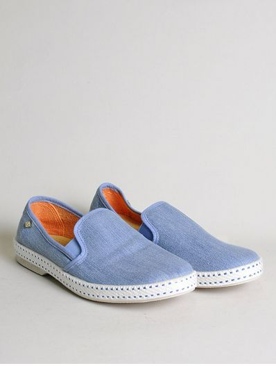 Rivieras Leisure Shoes Slip on Light Blue Jeans - 10% OFF