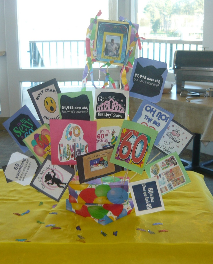 60th Birthday Table Decoration Idea
