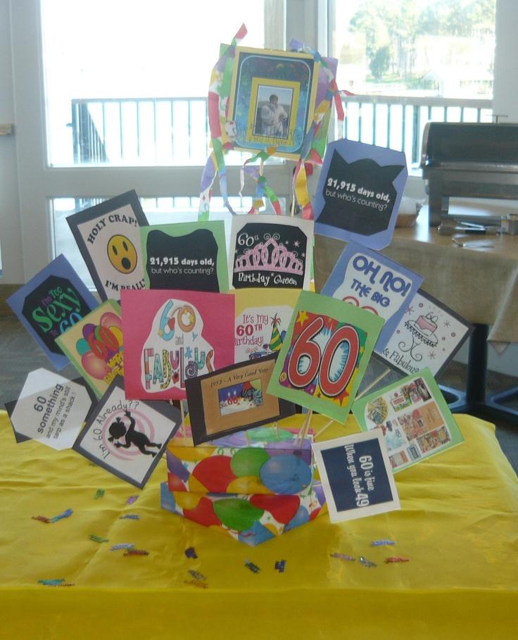 60th Birthday Table Decoration Idea