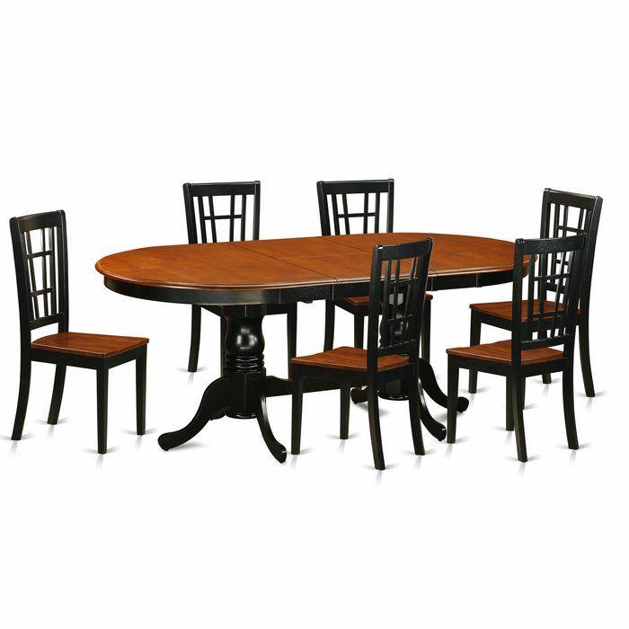 Pilcher Contemporary 7 Piece Dining Set Wooden Dining Chairs Solid Wood Dining Set Dining Table