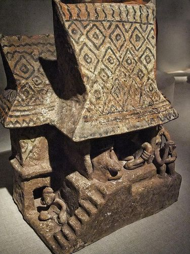 Model House Nayarit Mexico 200 BCE - 300 CE Ceramic and Pigment