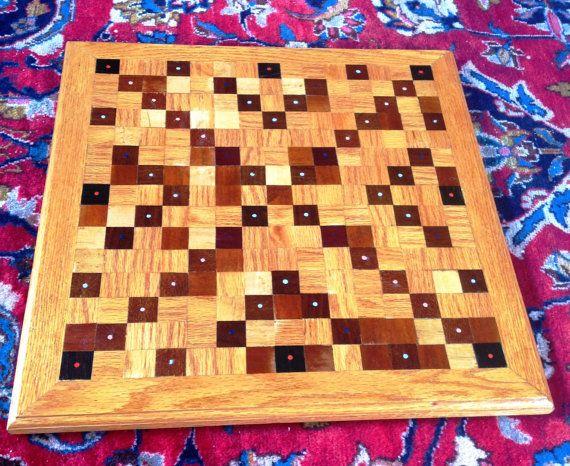 Custom Handmade Wooden Scrabble Board by LeelanauWoodworking