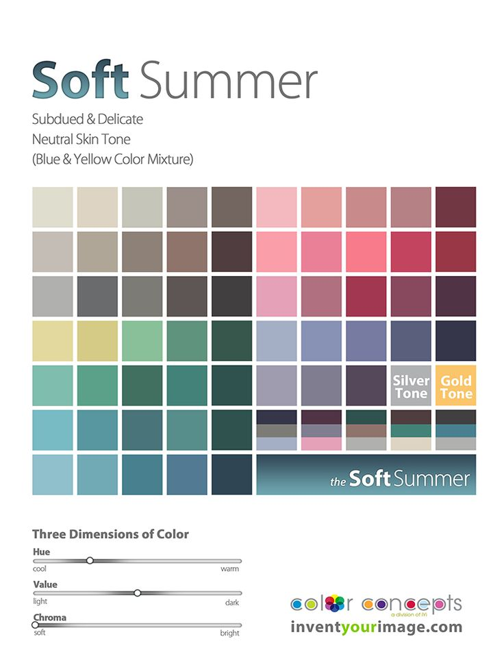 Invent Your Image's Color Analysis Pages- For Men