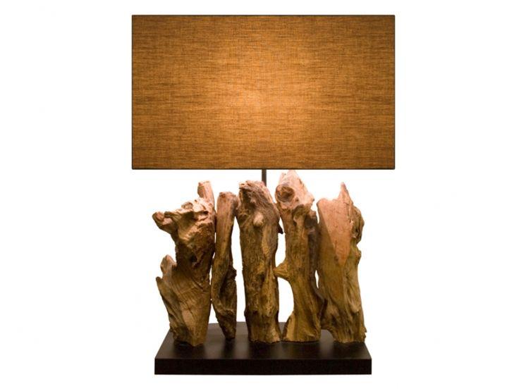 Lampe A Poser Karunki En Bois H 50cm Bois Lampe A Poser Et Deco