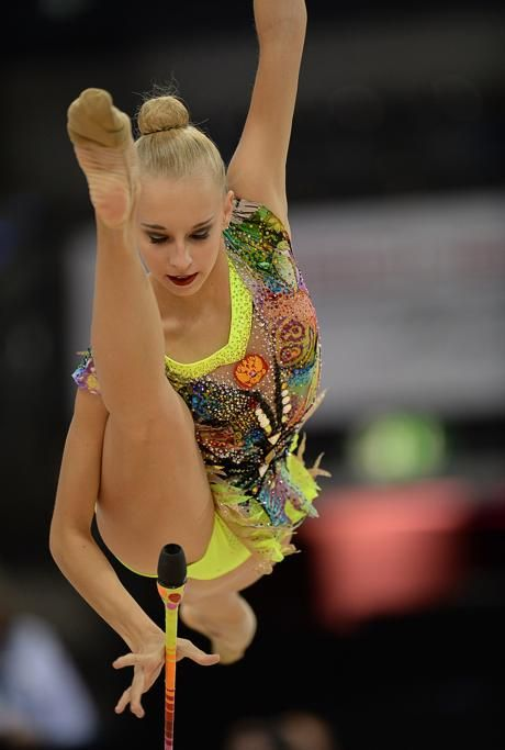 "Gymnastics Fun Facts  Most difficult gymnastics moves are often named after the gymnast who was able to do it for the first time.  An example of this is ""The Kudry"", named after the popular Russian rhythmic gymnast, Yana Kudryavtseva.  Read more gymnastics facts here: http://on.fb.me/1PRIqKi  #gymnastics #sports"