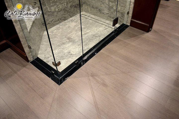 Vintage moonlight fossilized bamboo flooring from cali - Bamboo flooring in kitchen and bathroom ...