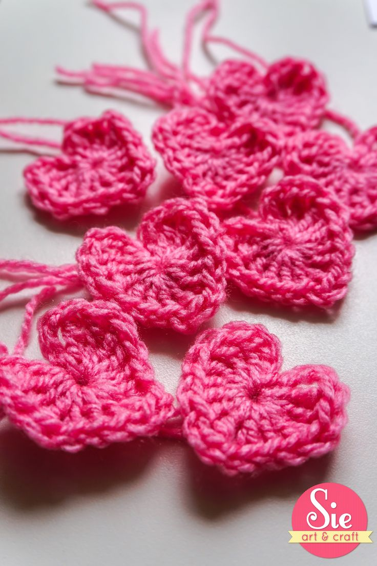 corazones en crochet! lovely ❤