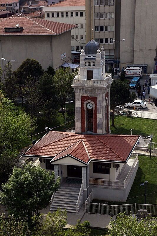 Hamidiye clock tower, Şişli etfal hospital, Istanbul, Turkey